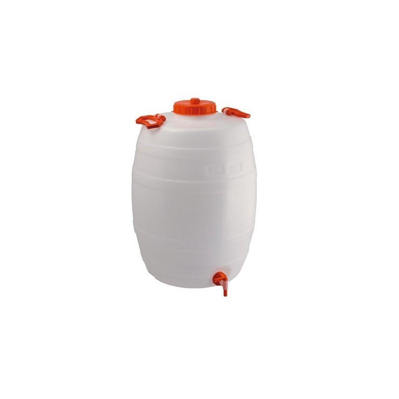 Depósito de plástico de 50 litros con grifo