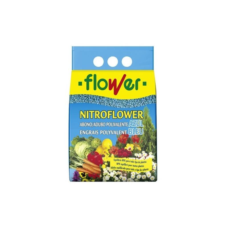 Abono polivalente azul Nitroflower Flower