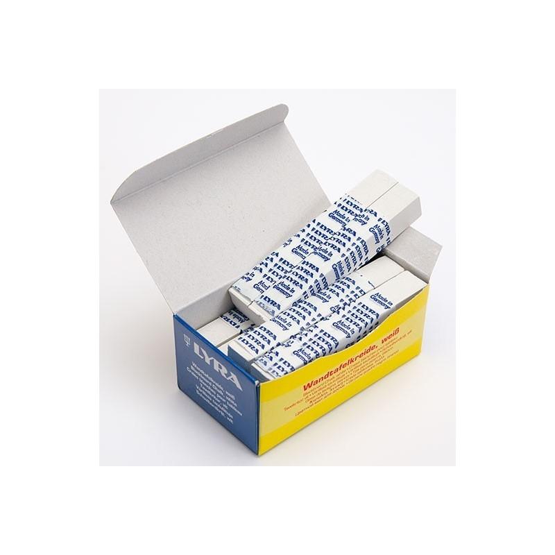 Caja de 12 tizas blancas