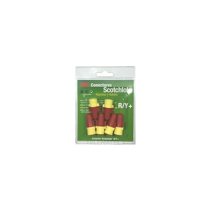 Blíster de 9 conectores eléctricos Scotchlok de resorte R/Y+